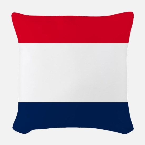 French Flag Woven Throw Pillow