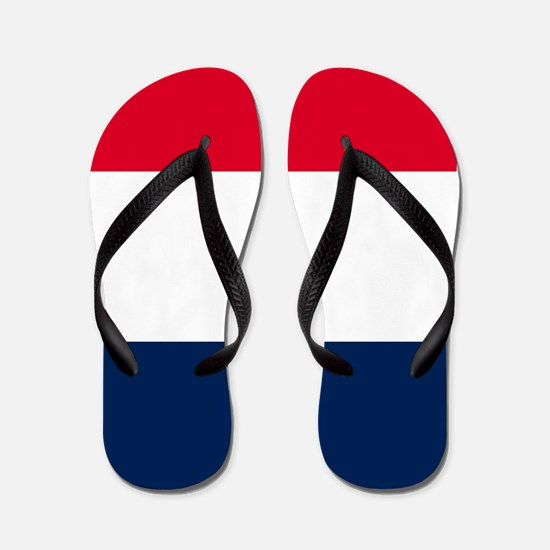 French Flag Flip Flops