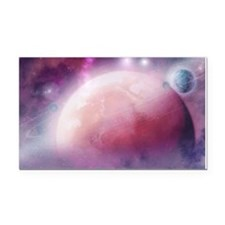 Pink Space Dream Rectangle Car Magnet