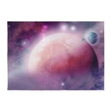 Pink Space Dream 5'x7'Area Rug
