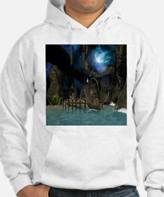 Beautiful latern boat at the jetty at night Hoodie