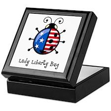 USA Ladybug Keepsake Box