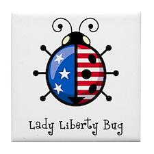 USA Ladybug Tile Coaster