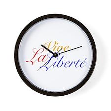 Vive La Liberté Wall Clock