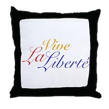 Vive La Liberté Throw Pillow