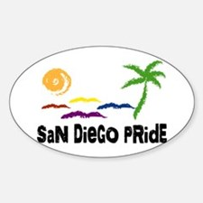 San Diego Pride Oval Decal
