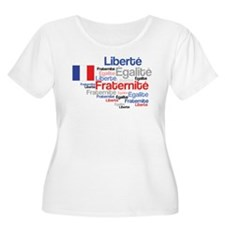 French Liberty Bastille Day Plus Size T-Shirt