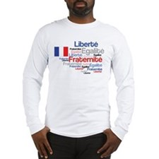 French Liberty Bastille Day Long Sleeve T-Shirt
