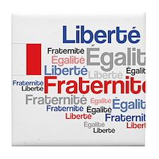 French Liberty Bastille Day Tile Coaster