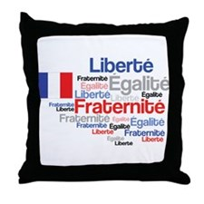 French Liberty Bastille Day Throw Pillow