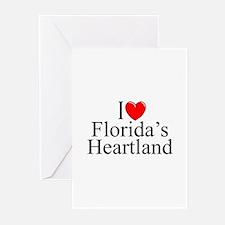 """I Love Florida's Heartland"" Greeting Cards (Packa"