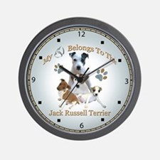 Jack Russell Angels Wall Clock