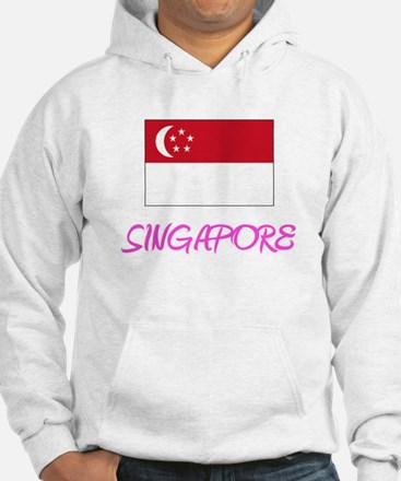 Singapore Flag Artistic Pink Design Sweatshirt