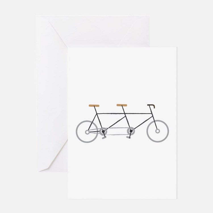 Tandem Bike Greeting Cards