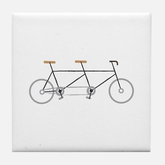 Tandem Bike Tile Coaster