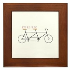 Bicycle for Two Framed Tile