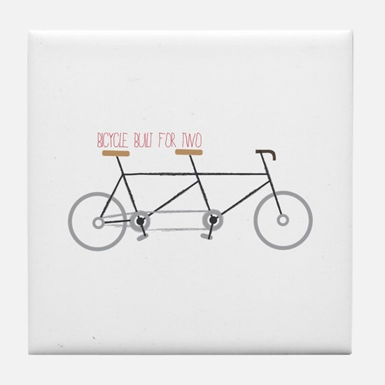Bicycle for Two Tile Coaster