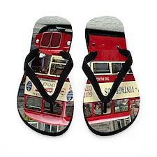 Vintage tour bus, Edinburgh, Scotland, Flip Flops
