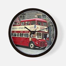 Vintage tour bus, Edinburgh, Scotland, Wall Clock