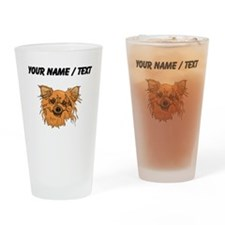 Longhaired Chihuahua (Custom) Drinking Glass