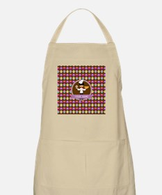 Modern Cupcakes Monogrammed Personalized Apron
