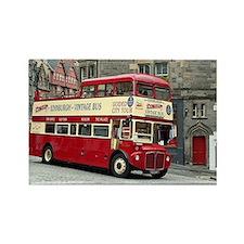 Vintage tour bus, Edinburgh, Scotland, Uni Magnets