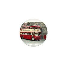 Vintage tour bus, Edinburgh, Scotland, Mini Button