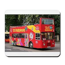 Tourist bus, York, England, United Kingd Mousepad