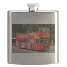Tourist bus, York, England, United Kingdom Flask