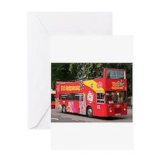 Tourist bus, York, England, United Greeting Cards