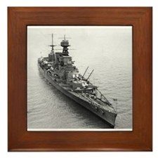 hms hood Framed Tile
