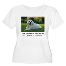 Great Pyrenees Sign Plus Size T-Shirt