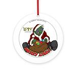Santa Peny Round Ornament