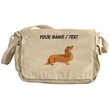 Longhaired Dachshund (Custom) Messenger Bag