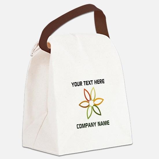 Bright Flower Logo Canvas Lunch Bag