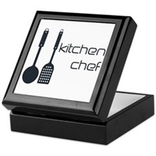 Hobby Kitchen Chef Logo Black Keepsake Box