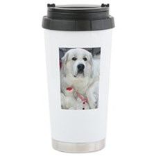 great pyrenees with ted Travel Mug