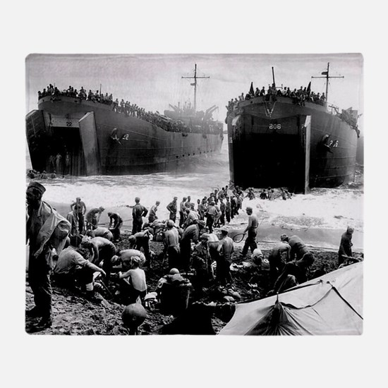 battle of the phillipines Throw Blanket