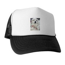 great pyrenees with teddy bear Trucker Hat