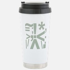 Punctuation, Art Stainless Steel Travel Mug