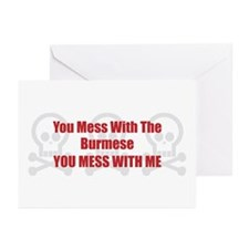 Mess With Burmese Greeting Cards (Pk of 10)