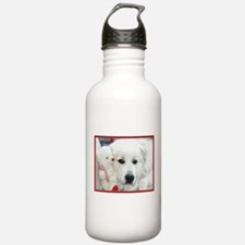 great pyrenees with te Water Bottle