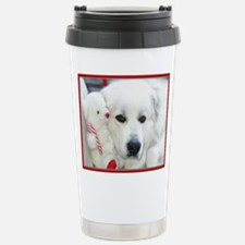 great pyrenees with ted Thermos Mug