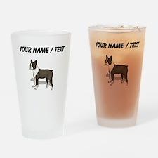 Boston Terrier (Custom) Drinking Glass
