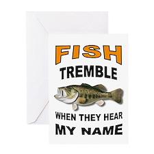 FISH TREMBLE Greeting Cards