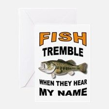 FISH TREMBLE Greeting Cards