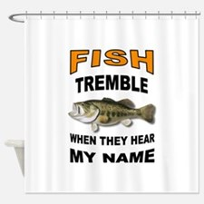 FISH TREMBLE Shower Curtain