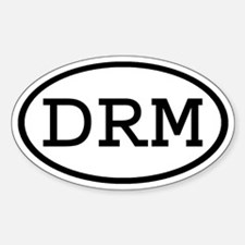 DRM Oval Oval Decal