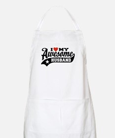 I Love My Awesome Husband Apron