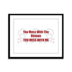 Mess With Birman Framed Panel Print